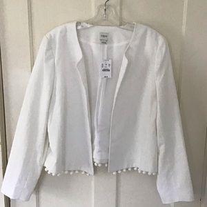 J.  Crew jacket white NWT